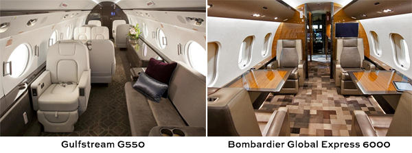 Global Express 6000 vs Gulfstream G550