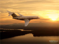 fly in a Hawker 4000 private jet