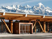 Jackson Hole Airport by private jet