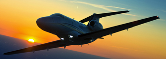 Cessna Citation Mustang sunset flight