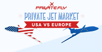 PrivateFly compares the USA and Europe private jet market