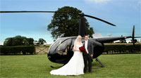 Helicopter hire for weddings
