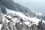 Meribel ski resort by jet
