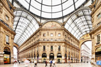 Milan shopping by private jet