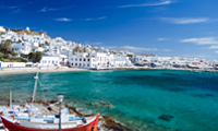 Private jet flight to Mykonos