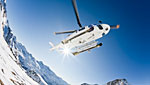 Helicopter transfer to Cortina