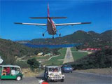 St Barts airport by private jet