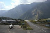 Lukla airport by private jet