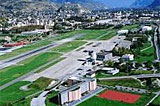 Sion airport by private jet