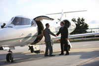 private jet charter airports and ground services