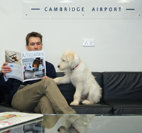 Pet travel by private jet