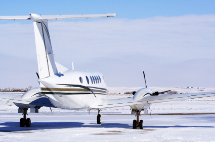 Private jet snow